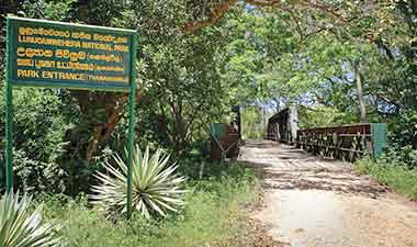 Lunugamvehera National park entrance
